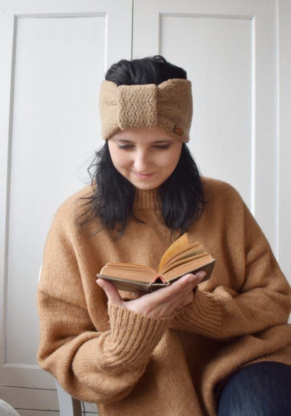 turban, opaska na uszy, nauszniki, headband, wool headband, beanie,
